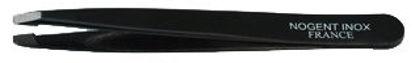 Billede af Pinzet firkantet spids sort proff. 9,5 cm.