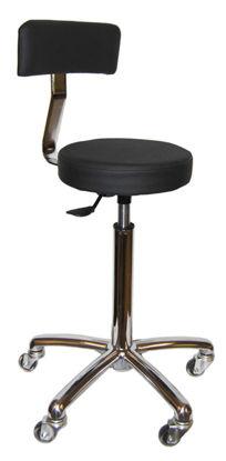 Billede af Klippestol Mavira GUMMI-hjul med ryglæn