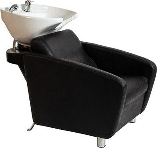 Billede af Vask HW Stratego med 4 ben Monteret med SORT vask
